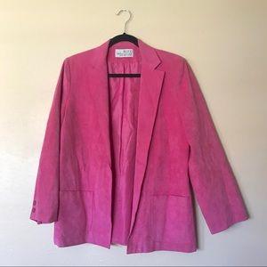 Vintage pink suede blazer